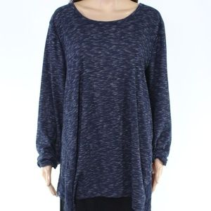 Women's Style & Co. Ribbed Laced Top 3X $56
